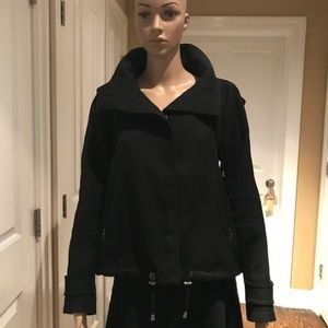 Zara Woman Stylish Wool Blend Jacket with Hood